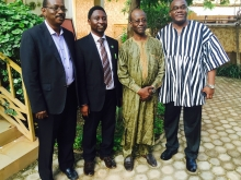 Ex-Prime Minister Danda, with AGF officials