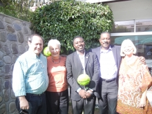 the Canberra group with Frank Habineza