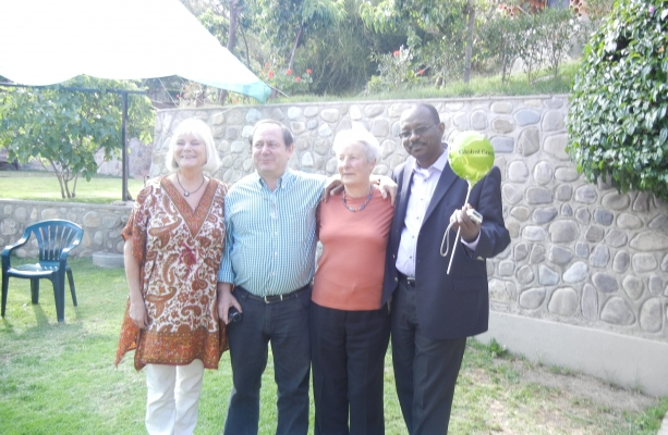 the Canberra team: Eva Goes, Juan Behrend, Margaret Blakers and Adamou Garba