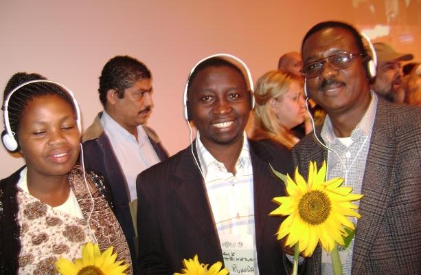 SaoPaul, Brazil 2008: New Africa Reps, Julian Mugure-Kenya, Frank Habineza-Rwanda, Adamou Garba-Niger