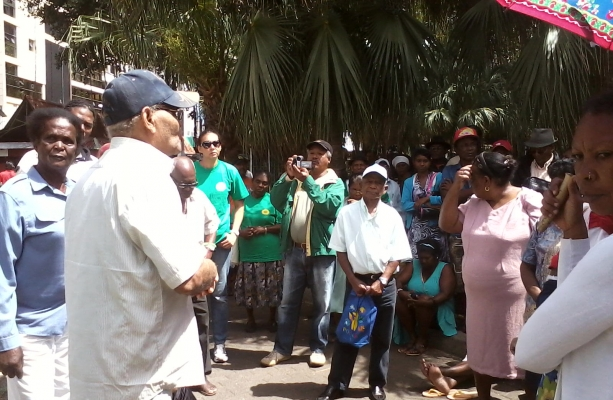 Greens in Mauritius before at the start of the hunger strike